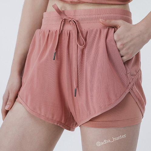 Short Yoga Gym pants 糖果色防走光運動褲