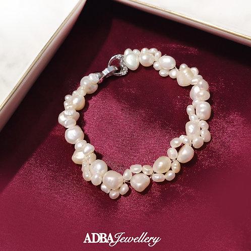扭扭巴洛克淡水珍珠手鍊Twist Baroque Pearl Bracelet