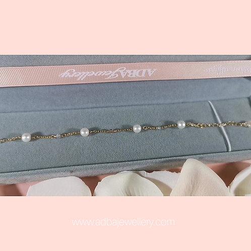 公主風Swarovski 淡水珍珠手鍊 Princess 925 Silver Freshwater Pearl  Swarovski Bracelet