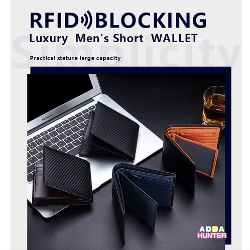RFID Blocking Luxury Wallet