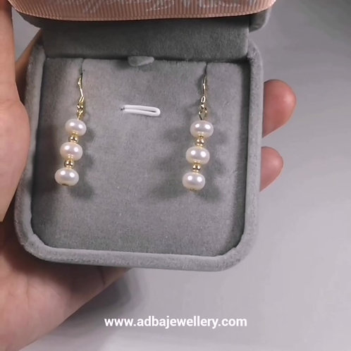 Bead Fresh Water Pearl Earrings