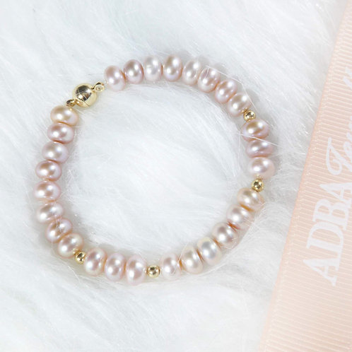 Purple Fresh Water Pearl Bead Bracelet