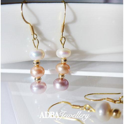 01-糖果風淡水珍珠耳環 Multi-color Fresh Water Pearl Earrings