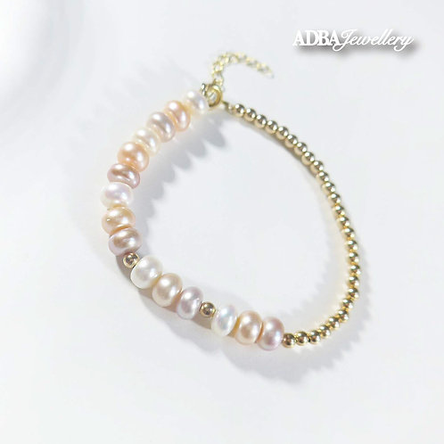 Rainbow 14KGF Bracelet