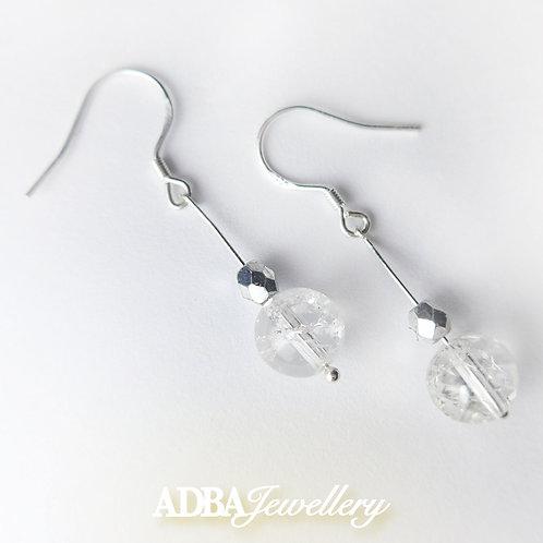 Clear Quartz Long Earring 白水晶長耳環