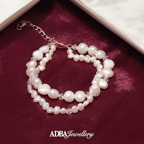 雙層巴洛克淡水珍珠手鍊Double Layer Baroque Pearl Bracelet