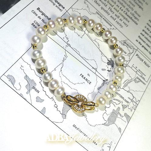 復古金淡水珍珠手鏈 Vintage Fresh Water Pearl Bracelet
