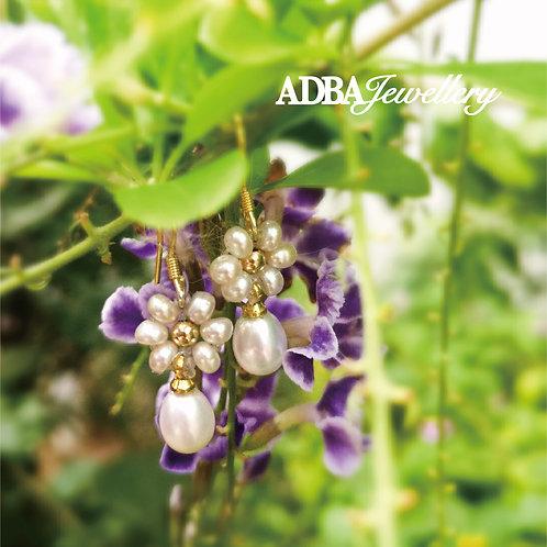 純銀925花開耳環 925 Silver Blossom Dangle Earrings