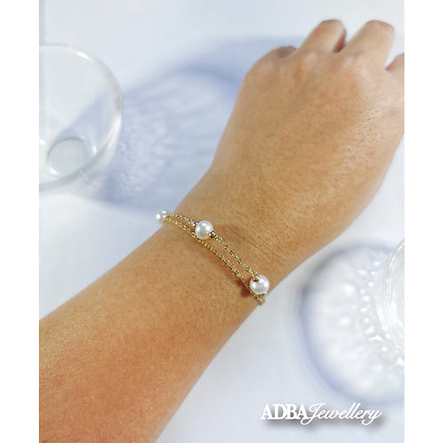 Double Layer Freshwater  Pearl Bracelet