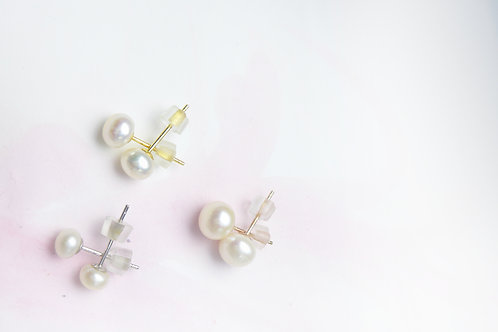 (6-6.5mm) 4A級淡水珍珠耳環 4A grade Fresh Water Pearl Studs Earrings