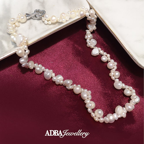 扭扭巴洛克淡水珍珠頸鍊 Twist Baroque Pearl Necklace