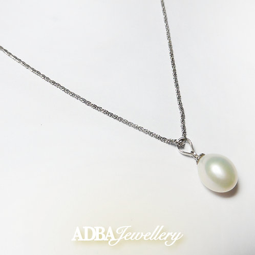 S925 Bling Bling Fresh Water Pearl Necklace 925銀淡水珠頸鏈
