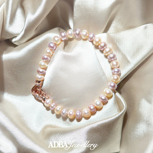 雙色淡水珠手鍊 Two Color Fresh Water Pearl Bracelet
