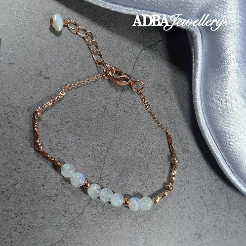 玫瑰金月亮石手鍊Rose Gold Moonstone Bracelet