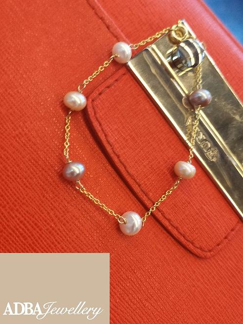 04-糖果風淡水珍珠手鏈 Candy-color Fresh Water Pearl Bracelet