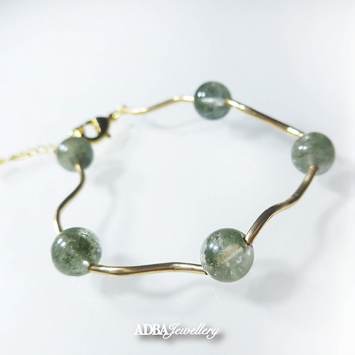 綠幽靈 Green Phantom 14KGF Bracelet
