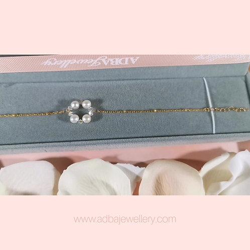 Halo Swarovski 淡水珍珠手鍊 Halo 925 Silver Freshwater  Pearl  Swarovski Bracelet