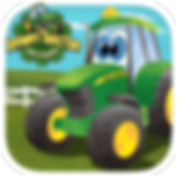 App icon for Johnny Tractor and Friends: County Fair interactive storybook from Soul and Vibe Books!