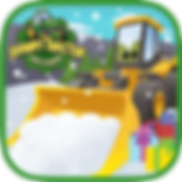 App icon for Johnny Tractor and Friends: Snow Day interactive storybook from Soul and Vibe Books!