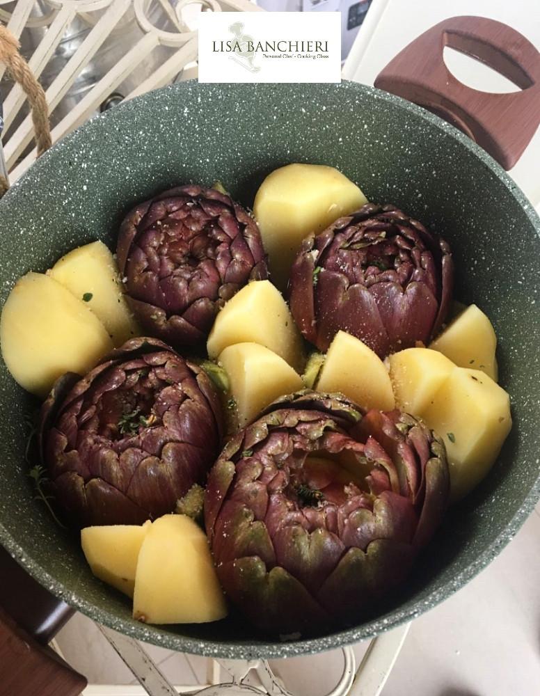 ricette carciofi in tegame