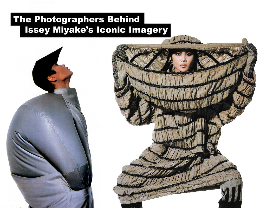 Article Cover Image featuring Issey Miyake photographed by Irving Penn