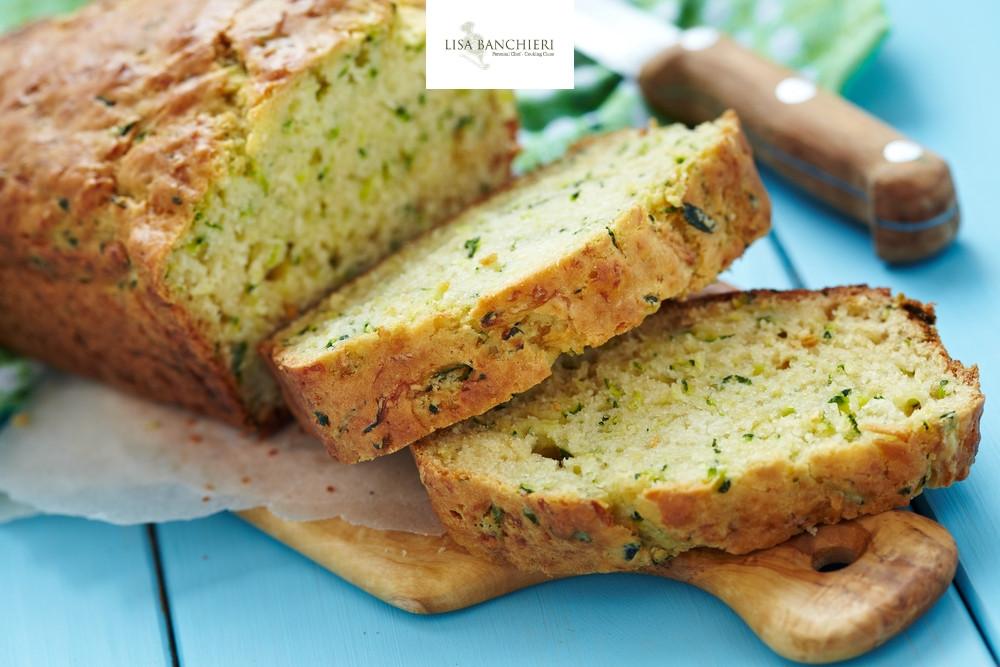 Pane alle zucchine e caprino