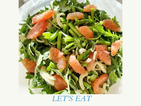 Bright Arugula Salad with Fennel, Green Beans and Citrus