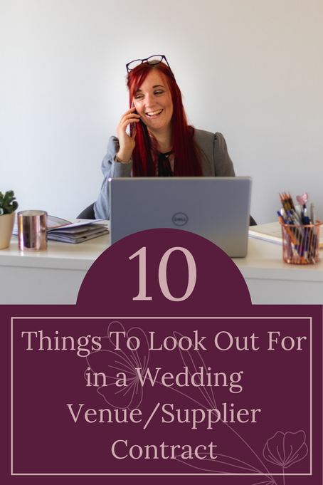 10 things to look out for in a Wedding venue/supplier contract