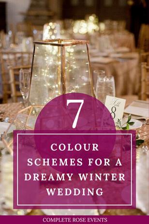 7 Colour Schemes for a Dreamy Winter Wedding