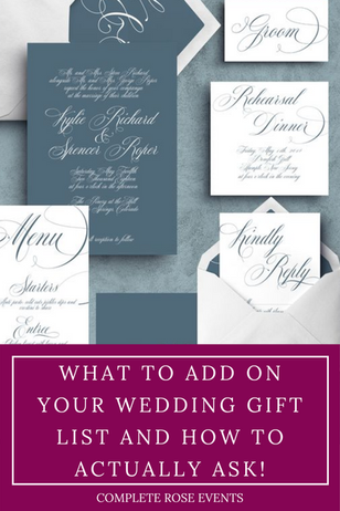 What to add on your Wedding gift list and how to actually ask!