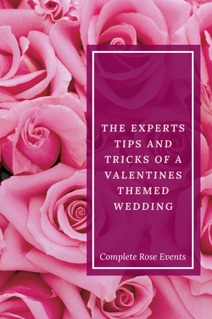 The experts tips and tricks of a #valentines day wedding