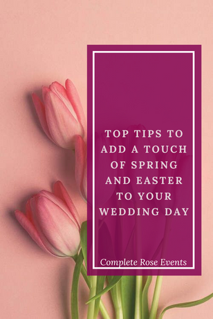 How to add an Easter theme to your Wedding day!