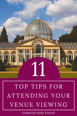11 Top tips for attending your venue viewing