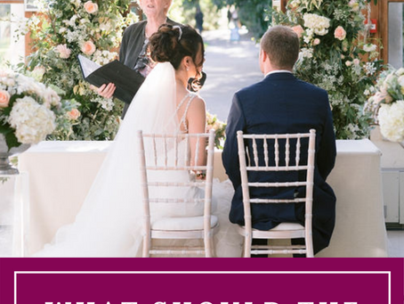 What should the timings of my Wedding day be?