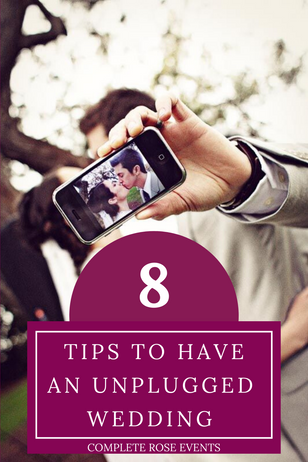 8 tips to have an unplugged (no social media/technology) Wedding