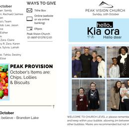 Peak Newsletter 10th October 2021