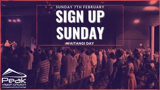 Sign Up Sunday