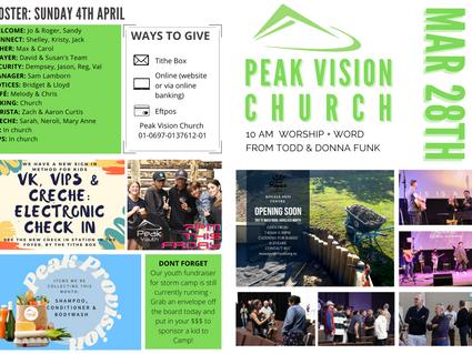 Peak Newsletter 28 March 2021