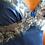 halka z jedwabiu niebieska