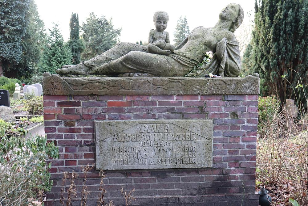 Das Grab von Paula Modersohn Becker in Worpswese