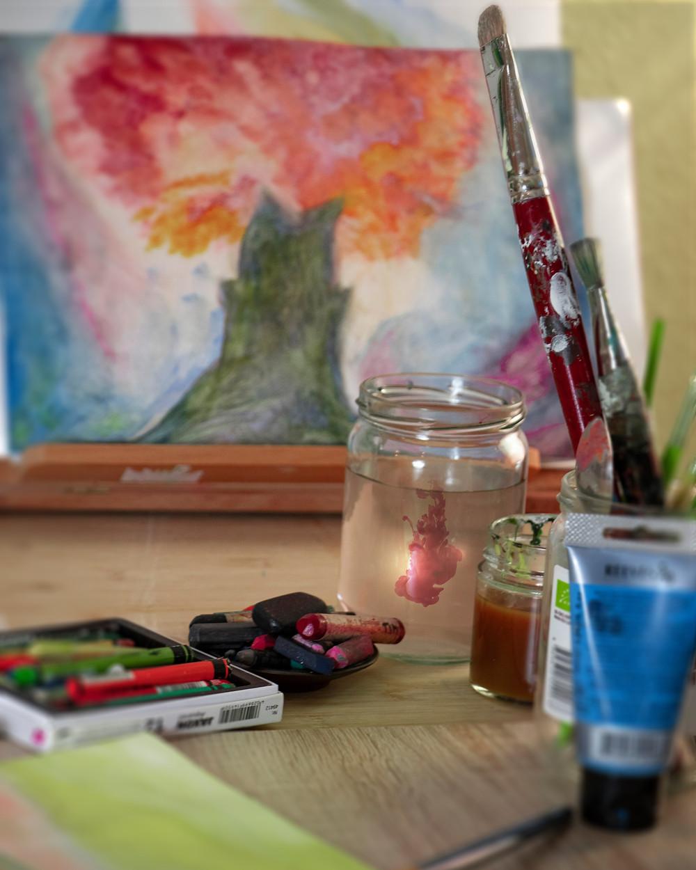 Selbstbild Kunsttherapie Freiheitsmalen in Wetter