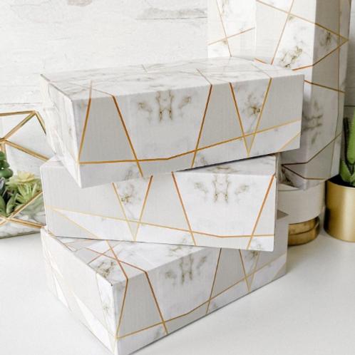 25 Marble 9x6x3 Designer Mailing Box