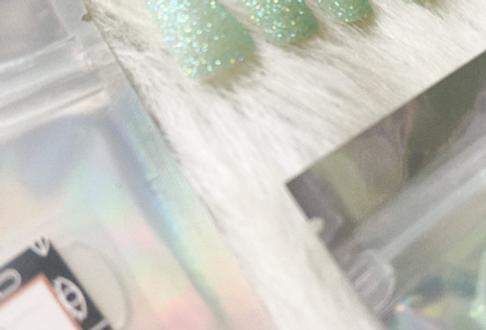 Mint Glitter Press'd