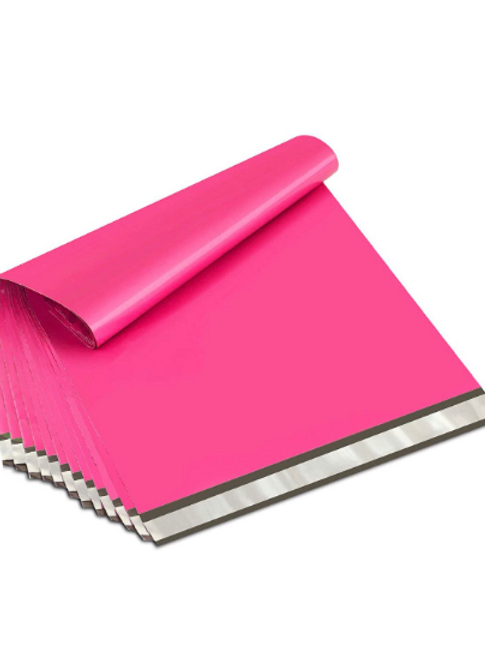 24x24 Large Hot Pink Poly Mailers 10ct
