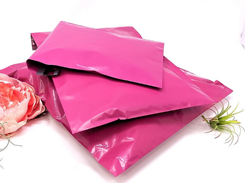 10ct 14x17 Large Hot Pink Poly Mailers