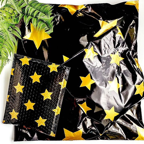 10x13 Black and gold poly Mailers 10ct