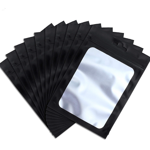 25 Resealable Black 4x6 bags