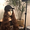 """Thumbnail: Hat Wig with hair attached/sewn with 22"""" heat resistant (light brown) synthetic"""