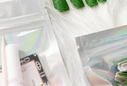 Green Glitter Press'd