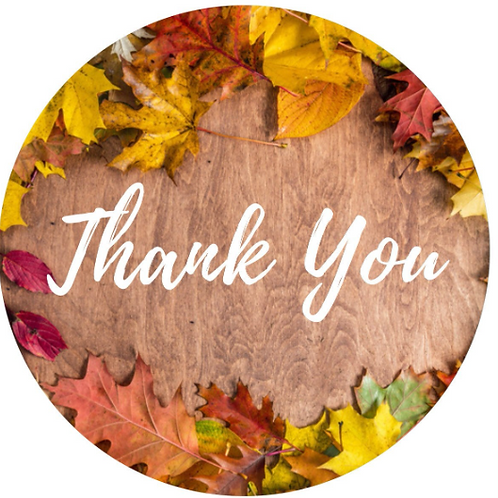 24 Fall Thank You Stickers